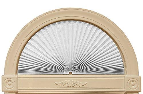 "Redi Shade 3607878, White, 72"" x 36"" Original Arch Sheer View Solar Fabric Shade"