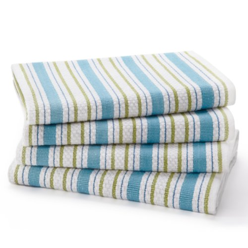 COTTON CRAFT - 4 Pack - Basket Weave Kitchen Towels -...