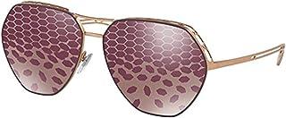455f6faf96 Bulgari 0Bv6098 2032H5 61 Gafas de sol, Dorado (Viola/Pink/Dk)
