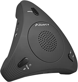 KKmoon Aibecy USB Desktop Computer Conference Omnidirectional Condenser Microphone Mic Speaker Speakerphone 360° Audio Pic...