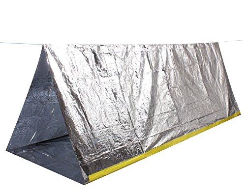 Tenflyer Tente de survie, camping, Refuge d'urgence, sports en plein air, silver