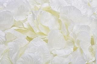 La Tartelette Silk Rose Petals Wedding Flower Decoration (4000 Pcs, Creamy White)
