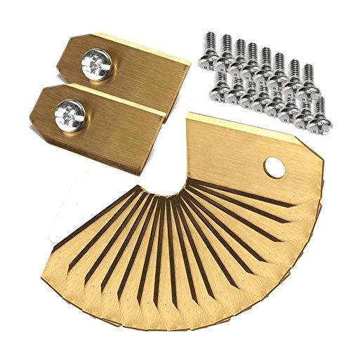 45x Titan Messer Klingen für Husqvarna Automower Messer für Husqvarn® Automower®/Yardforce/Gardena Mähroboter (3g - 0,75mm) inkl. Gardena Ersatzmesser - Mähroboter Ersatzteile Zubehör