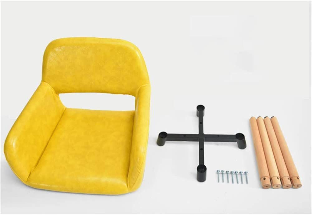 Chaise en bois massif chaise d'ordinateur créatif dossier créatif chaise de bureau loisirs salle à manger chaise creuse et accoudoir conception avec 4 jambes (Couleur : Blanc) Red
