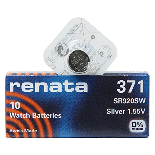 Renata 371 SR920SW Uhrenbatterie Pack 1 x (10) Silber 1,55 V Made in Swiss