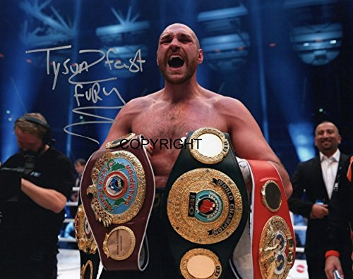 Limited Edition Tyson Fury unterzeichnet Foto Autogramm signiertsigniertes