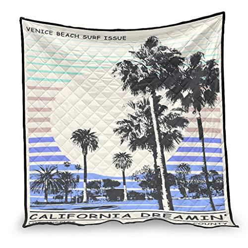 Chartiny Trapuntini Estivi California Dream Microfibra Cozy Throw Trapunta per Divano Divano Letto Tutte Le Stagioni Bianco 200x230cm