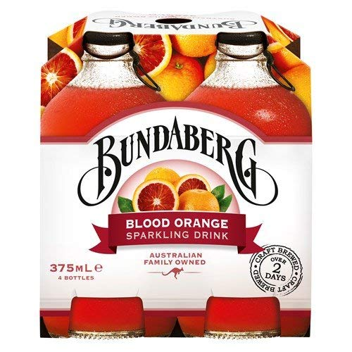 Bundaberg Blood Orange Sparkling Fruit Drink 4-Pack Made in Australia