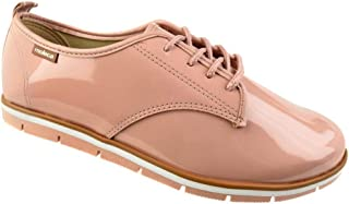 0087e2466 Sapato Oxford Moleca Envernizado Rosa Feminino
