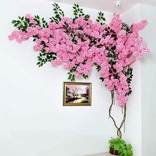 Cerezo cerezos en flor flores artificiales flores de seda vides falsos, ramas en flor 30 12 Banyan rama de un árbol, para la decoración del hogar, bodas, oficinas, restaurantes, etc,Pink