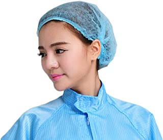 100Pcs Disposable Shower Caps Disposable Non-Woven Anti Dust Caps for Spa Home Use Hotel and Hair Salon, Blue