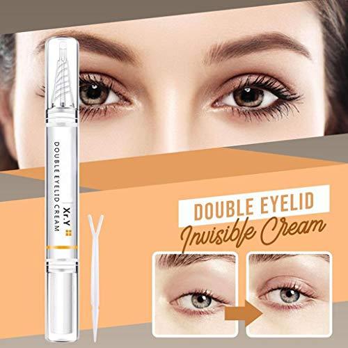 Invisible Double Eyelid Shaping Cream Eyelid Styling Pen Gel Double Eyelid Serum Make Eyes Bigger (Clear)