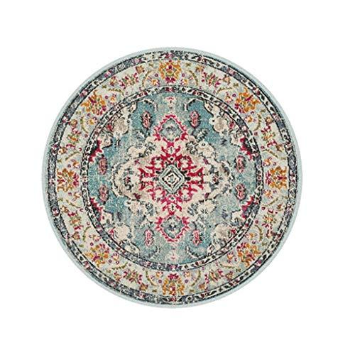 Jiamuxiangsi tapijtloper, rond, Marokkaanse zona-mat-nachtkastje slaapkamer-MatAmericani retro draaistoel mat tapijt