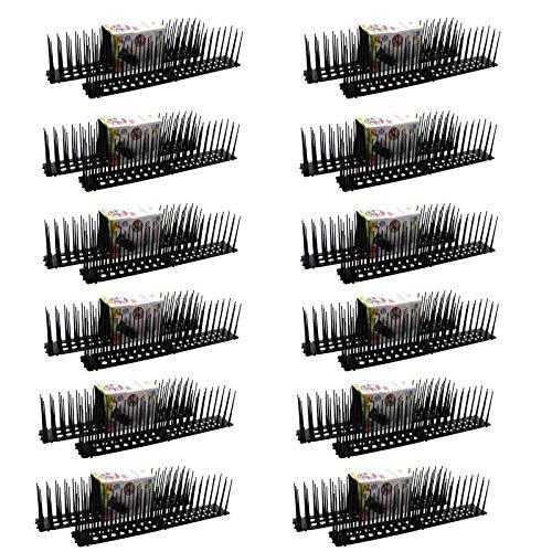 HAC24 Vogelabwehr Spikes 24 x 45cm Taubenabwehr Taubenspikes Vogelspikes Vogelschreck Vogelabwehrspitzen Vogelabwehrspikes Schwalbenabwehr