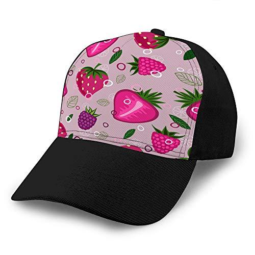 hyg03j4 Denim Baseball Cap für Männer Frauen Obstmischung Muster Snapback Cap