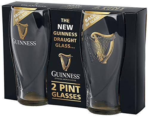 Guinness Guinness Logo Unisex Vaso de cerveza transparente, vidrio, 0,5 l