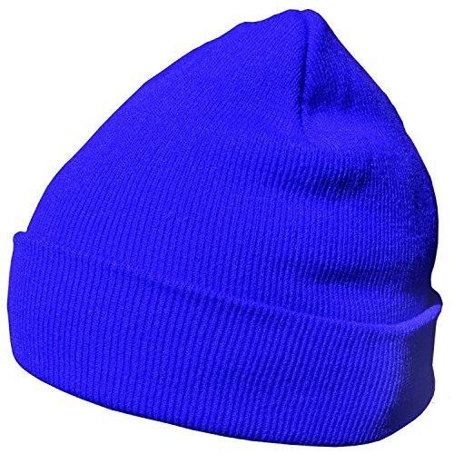 DonDon Wintermütze Mütze warm klassisches Design modern und weich blau