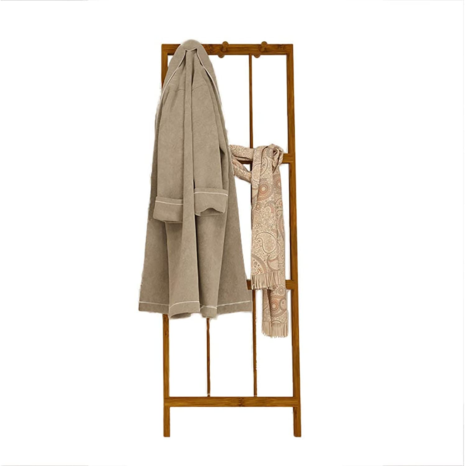 Foldable Corner Coat Rack, Bathroom Floor-Standing Coat Stand Hanger, Stability Save Space Durable Home Hall Concise-Bamboo 57x165cm(22x65inch)