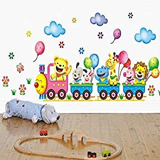 Train Wall Sticker for Kids Room Home Decor Nursery Wall Decal Children Poster Baby House Mural DIY
