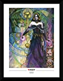 1art1 Magic The Gathering Framed Collector Poster - Liliana, Untouched by Death (16 x 12 inches)