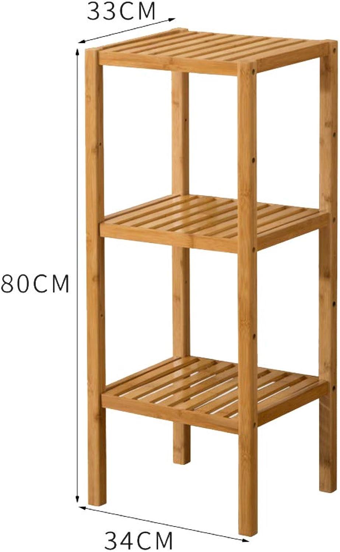 Multi-Layer Bamboo Shelf, Bookshelf, Bathroom Rack Organiser Storage Shelf Display Rack 5 Tier Floor Standing Shelf Simple Office-a 34x33x80cm(13x13x31inch)