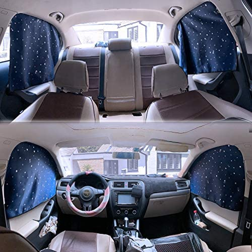 ZATOOTO Car Side Window Sun Shades 4 Pcs Sun Protection Front Rear Magnetic Privacy Sunshades product image
