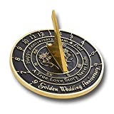AN ANNIVERSARY GIFT THAT STANDS IN TIME: If you are looking for the ultimate personalized anniversary gift for your beloved one, then we got you covered. We proudly present you, our modern collection of sundials! Choose the right one and pleasantly s...
