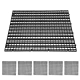 SALUTUYA Divisores de Placa de Rejilla de Filtro de Fondo Blanco y Negro para divisores de Acuario para Acuario(Black, 30 * 30cm)