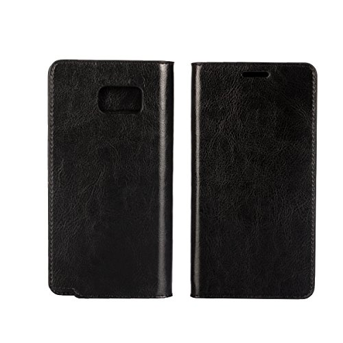 Galaxy Note 5 Case, Jaorty Genuine Leather Folio Flip Wallet Case Cover Book Design with Kickstand Feature & Card Slots/Cash Compartment for Samsung Galaxy Note 5 (5.7') - Black