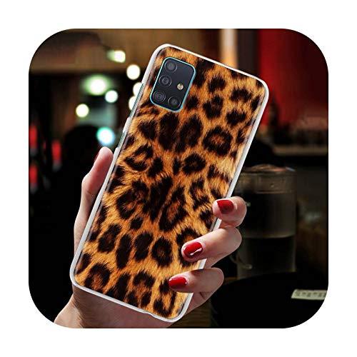 Phone cover Carcasa rígida para Samsung Galaxy A51 A71 A01 A11 A21 A21S A31 A41 A91 A7 A9 Cubierta Trasera Coque Leopard Print Fundas Capa-H07-Para Samsung A91