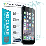 Tech Armor High Definition HD-Clear Film Screen Protector (Not Glass) for Apple iPhone 6S / iPhone 6 (4.7-inch) [3-Pack]