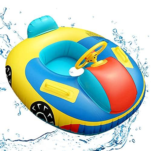 Anillo de natación para bebés Flotador Inflable para Piscina para bebés Asiento para Bote Piscina de PVC Entrenamiento para bebés Flotador para bebés para bebés y niños pequeños Flotador