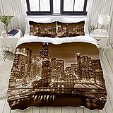 SIONOLY Ropa de cama,boeing edificio chicago ciudad illinois luz medio oeste...