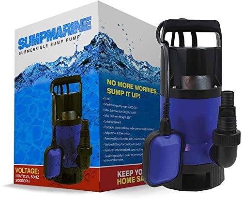 SumpMarine Submersible Sump Pump - 1/2 HP