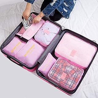 TATUE-Travel Bags - جديد 7 قطع / مجموعة عالية الجودة أكسفورد القماش مس حقيبة سفر شبكية في حقيبة الأمتعة منظم التعبئة مكعب ...