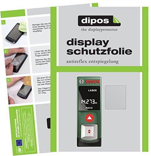 dipos I 3X Schutzfolie matt kompatibel mit Bosch PLR 15 Folie Displayschutzfolie