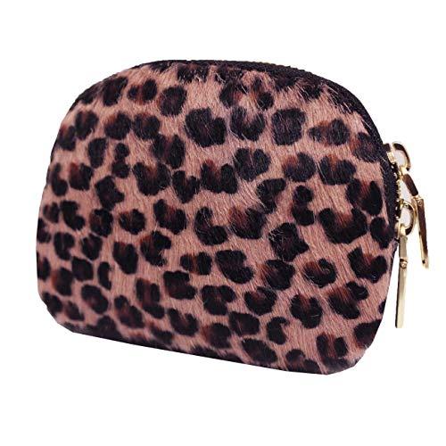 FERETI Pink Borsa Portamonete Portacarte Leopardo Pantera Cuoio Donna