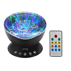 A SPEAKER AND BEAUTIFUL LIGHT-SHOW PROJECTOR IN ONE. Play your favorite tunes and project gorgeous shimmering lights onto your walls and ceiling with the same compact device. PROJECTS MULTI-COLORED LIGHTS WITH A MOVING WATER-WAVE RIPPLE EFFECT. The s...