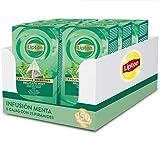 Lipton 67835097 Selección Exclusiva Infusión Delicada Menta - 6 Cajas Con 25 Pirámides