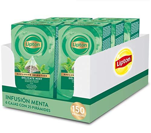 Lipton 67835097 Seleccion Exclusiva Infusion Delicada Menta - 6 Cajas Con 25 Piramides