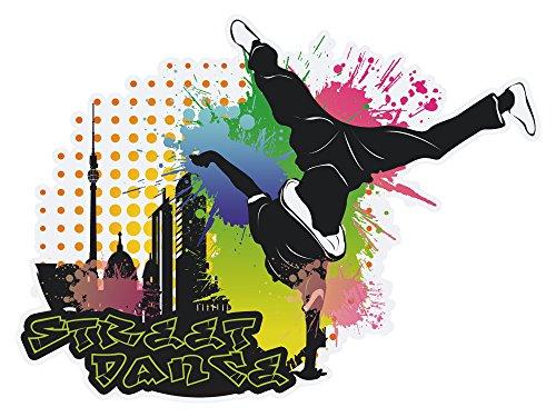 GRAZDesign Wandbild Jugendzimmer, Türaufkleber Streetdance, Wandtattoo Tanzen / 77x57cm