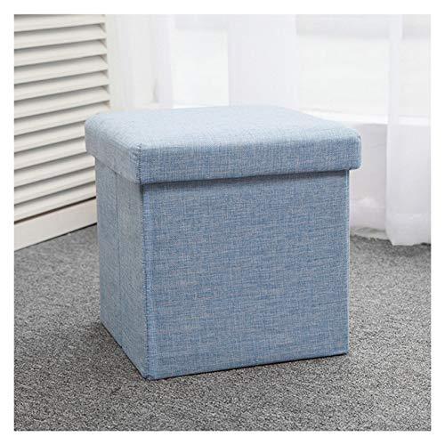 Storage Ottoman Folding Storage Footstool - Flat Pack Toy Storage - Foot Stool - Folding Stool - Storage Box With Lid - Cube Storage - Memory Box - Pouffe Footstool With Storage Storage Ottoman Footre