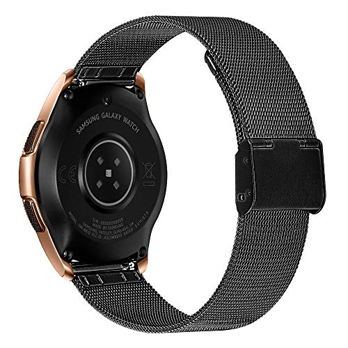Buy MeiLiio Band 20mm for Galaxy Watch 42mm, Stainless Steel Wrist Band Metal Strap Bracelet Replace...