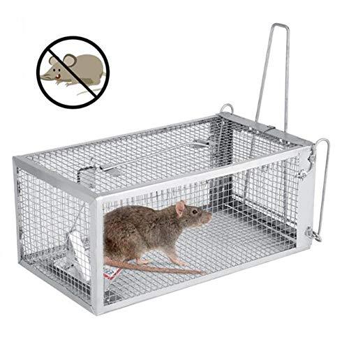 LLVV Knaagdierbestrijding, herbruikbare rattenval, zware muis, pest, dieren, muizen, hamsterkooi besturingslok, knaagdier, repeller, Catch MouseHamster, muizenval (2 stuks)