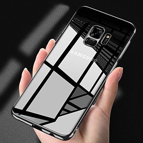 Funda Compatible con Samsung Galaxy S9 Plus, Carcasa 360 grados Protección completa Ultra Fina suave silicona TPU Carcasa Case