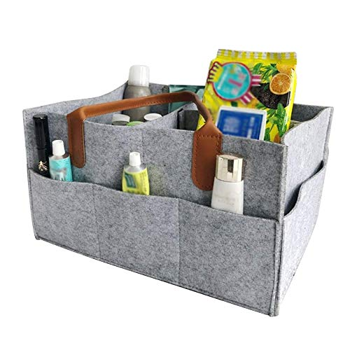 Tomedeks bolsa de pañales para bebé bolsa de almacenamiento de bandeja de pañales plegable para bolsa de pañales de juguete (gris claro 13 x 9 x 7 pulgadas)