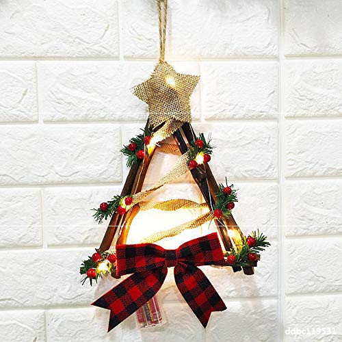 ZTTT Christmas Wreath Christmas Bow Triangle Ornaments Christmas Party Decorations