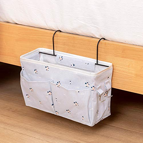 PPuujia Fabric Storage Organizer Hanging Bag Home Bedroom Bedside Office Table Kitchen Hanging Basket Modern 7 Colors with Hook Sundries (Color : Ling Yun Town)