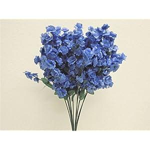 12 Sprays Baby Breath Gypsophila Filler Artificial Silk Flowers 15″ Stem 331 Dark Blue