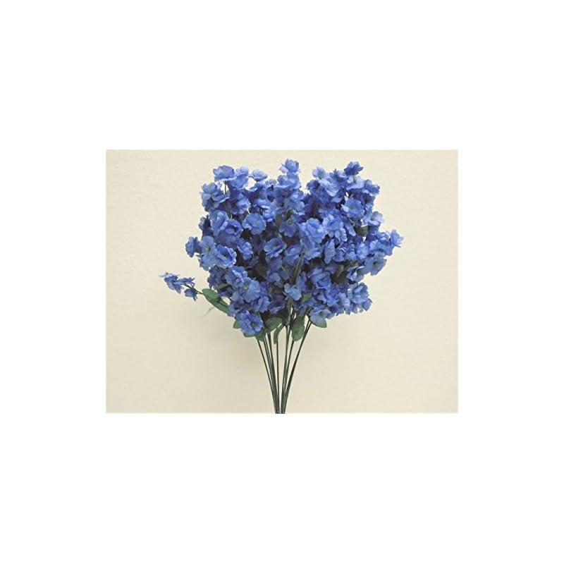 "silk flower arrangements 12 sprays baby breath gypsophila filler artificial silk flowers 15"" stem 331 dark blue"